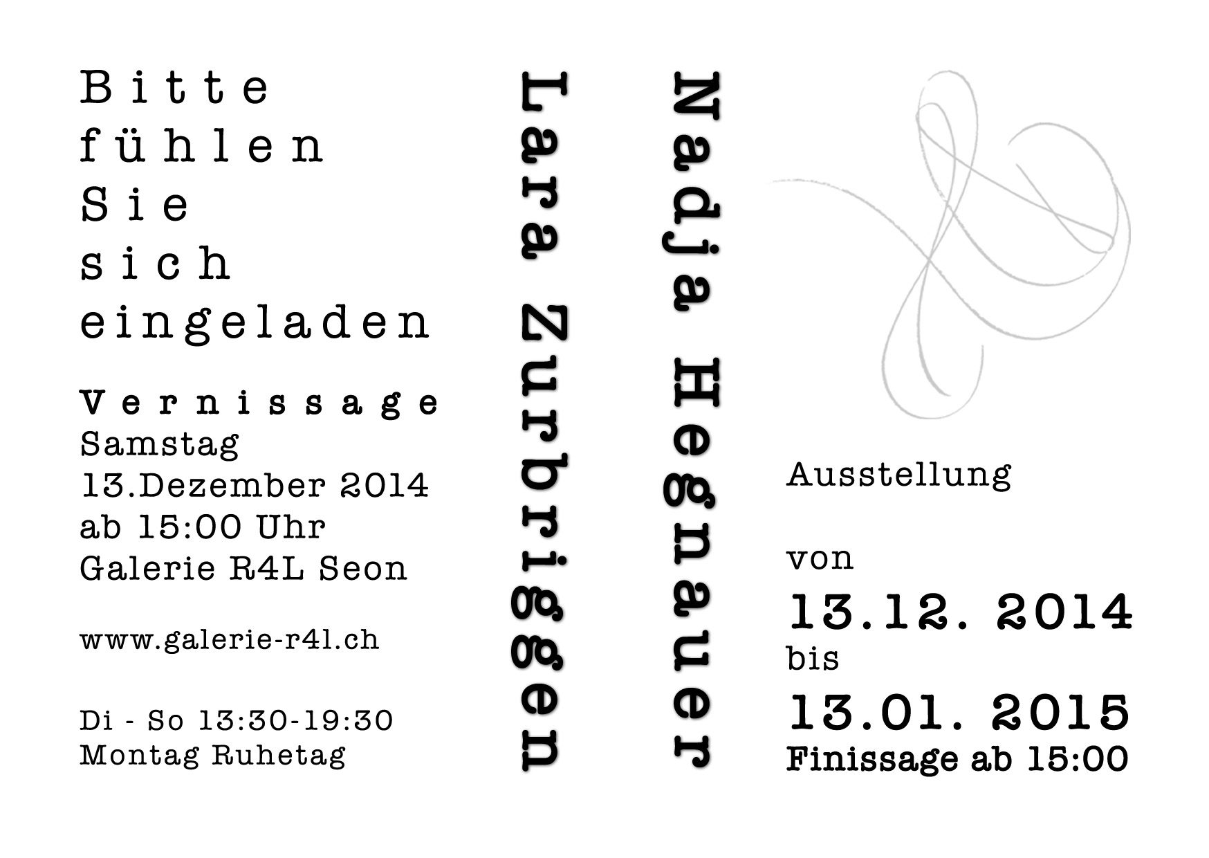 Kunstausstellung Nadja Hegnauer & Lara Zurbriggen