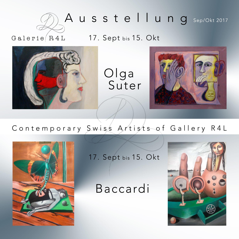 Kunstausstellung Olga Suter & Baccardi