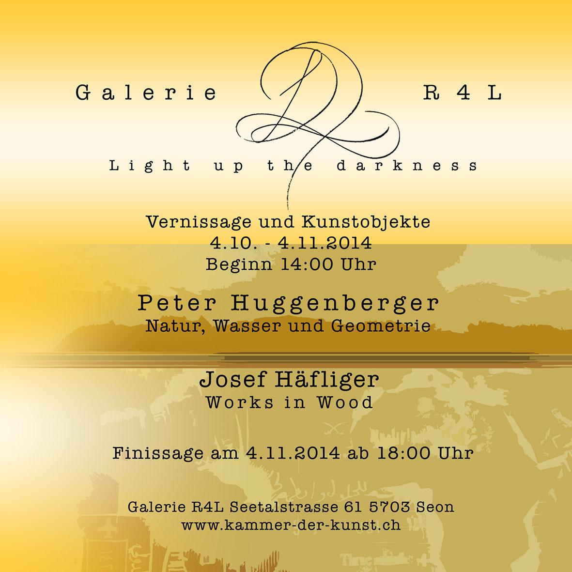Kunstausstellung Peter Huggenberger & Josef Häflinger