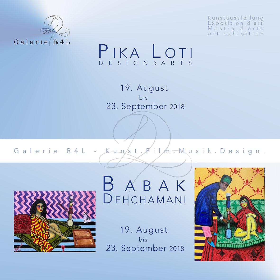 Kunstausstellung Pika Loti & Babak Dehchamani