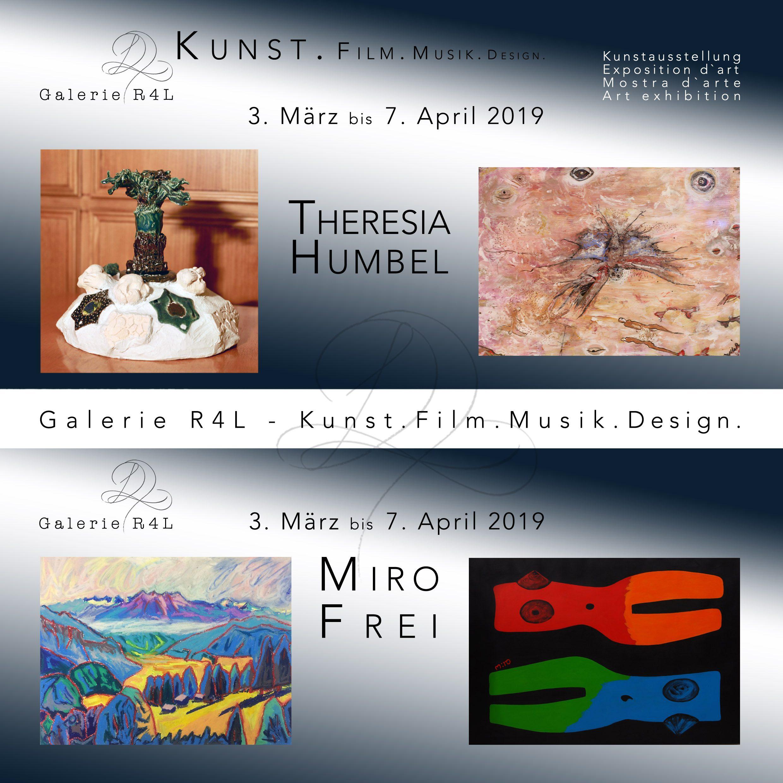 Kunstausstellung: Theresia Humbel & Miro Frei