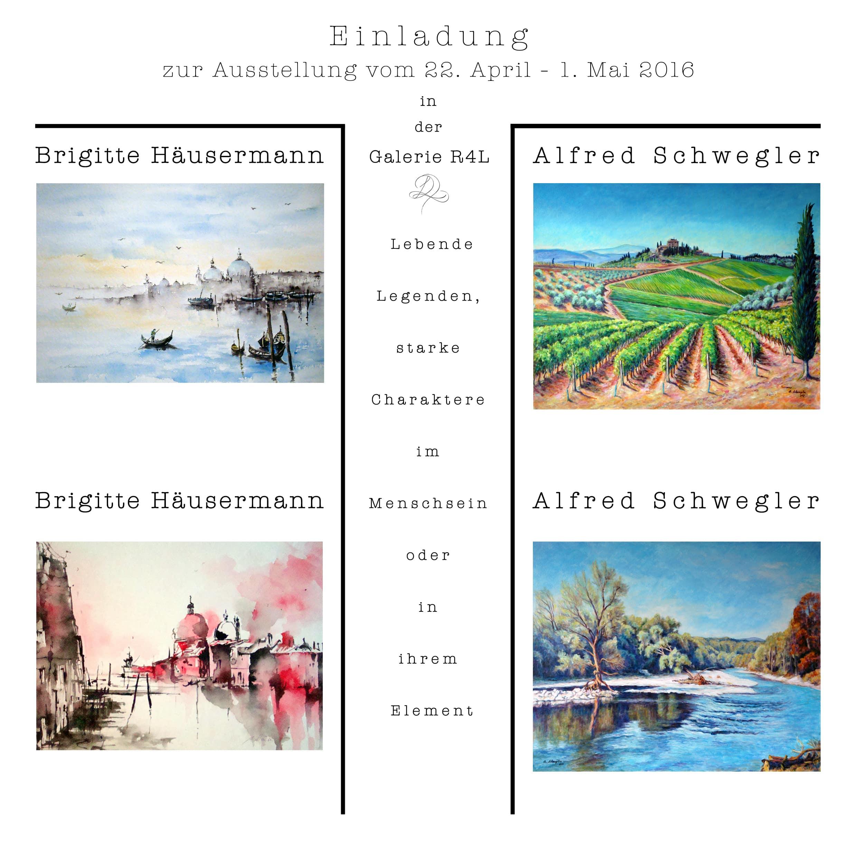 Kunstausstellung Brigitte Häusermann & Alfred Schweigler